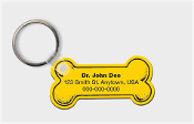 Dog Bone Key Tag