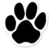 Paw Print Outdoor Car Magnet